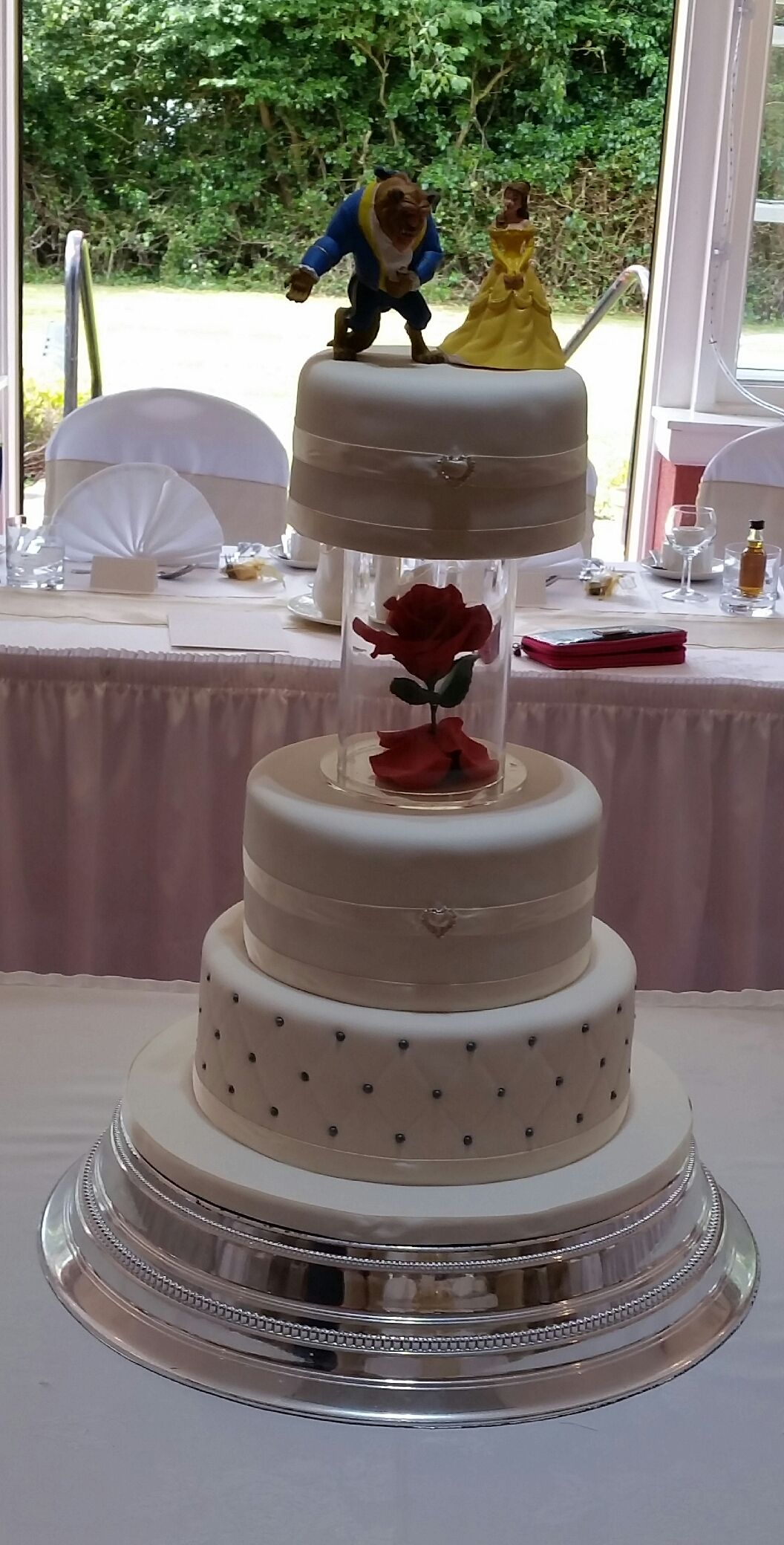 Beauty And The Beast Inspired 3 Tier Wedding Cake With Handmade