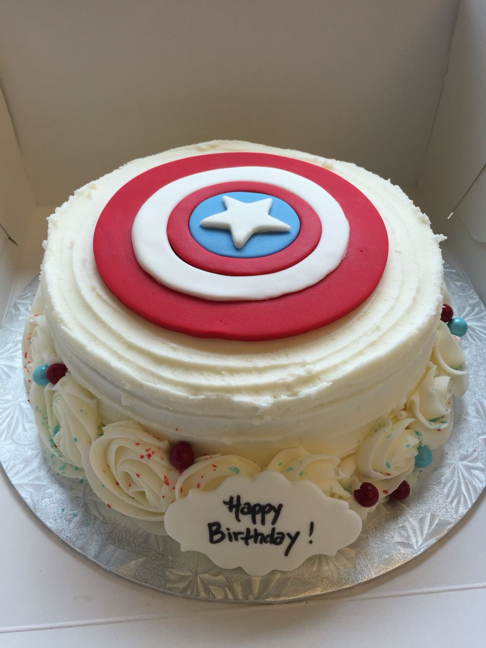 Captain America Buttercream Cake Cake Decorating Cake Pops