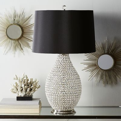 Crystal Bead Lamp Black Table Lamp