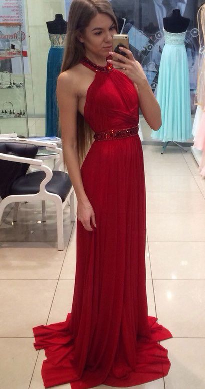 Long Red Prom Dresses Cheap