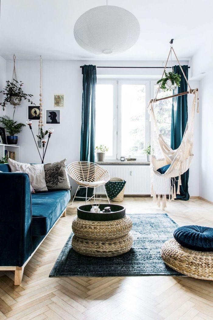 ▷ 1001 + idées pour réussir la déco salon bleu et donner un nouveau look à pièce à vivre