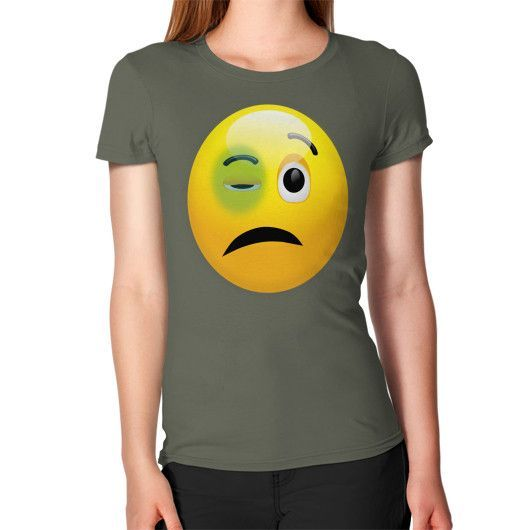 FIGTHER SMILEY ON AMERICAN APPAREL Women's T-Shirt