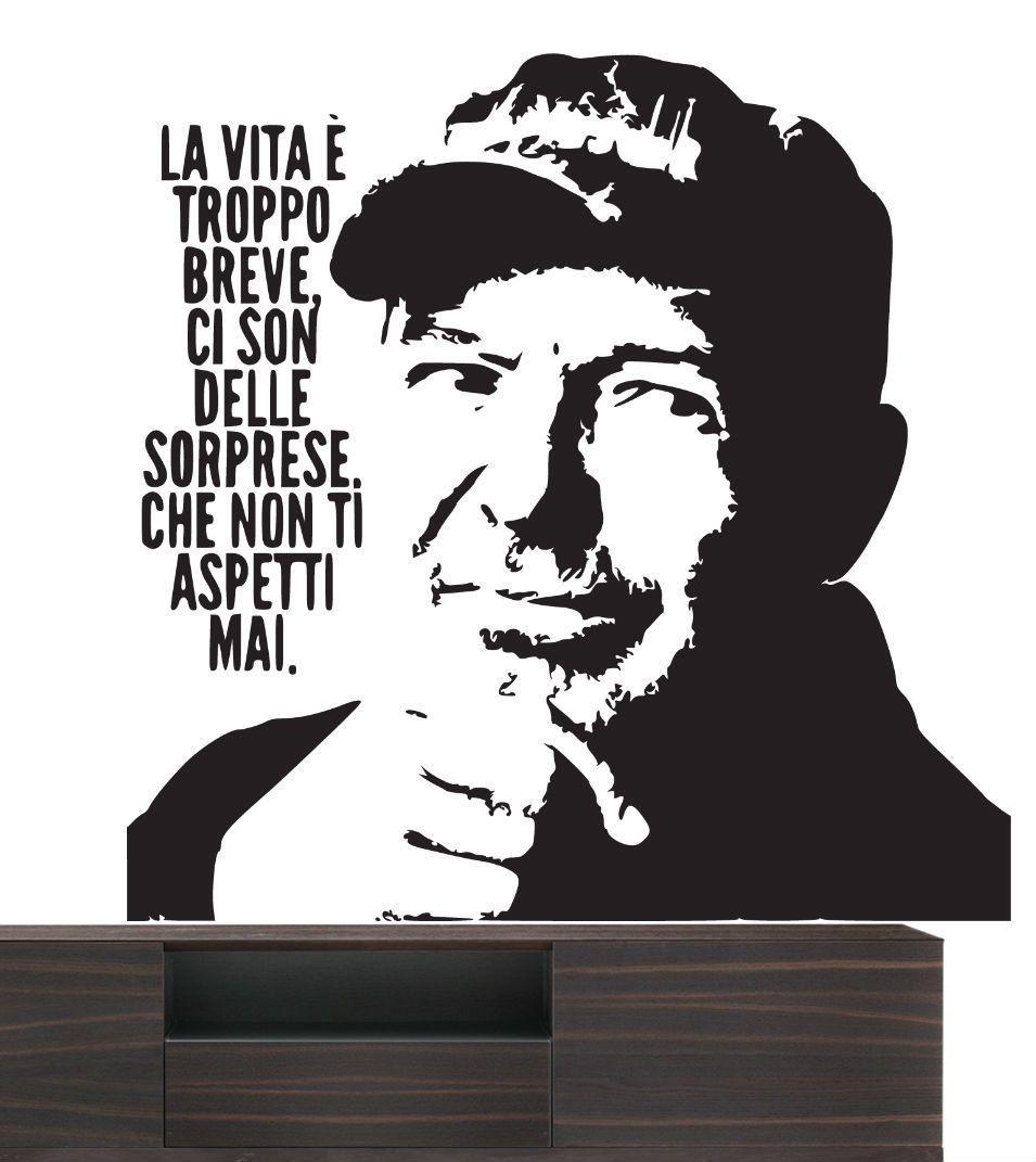 Adesivi Murali Personaggi Famosi.Wall Stickers Vasco Rossi Frasi Citazioni Adesivi Murali Decorazione