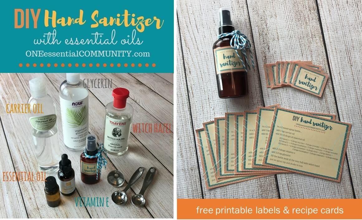 Hand Sanitizer Spray With Essential Oils Hand Sanitizer