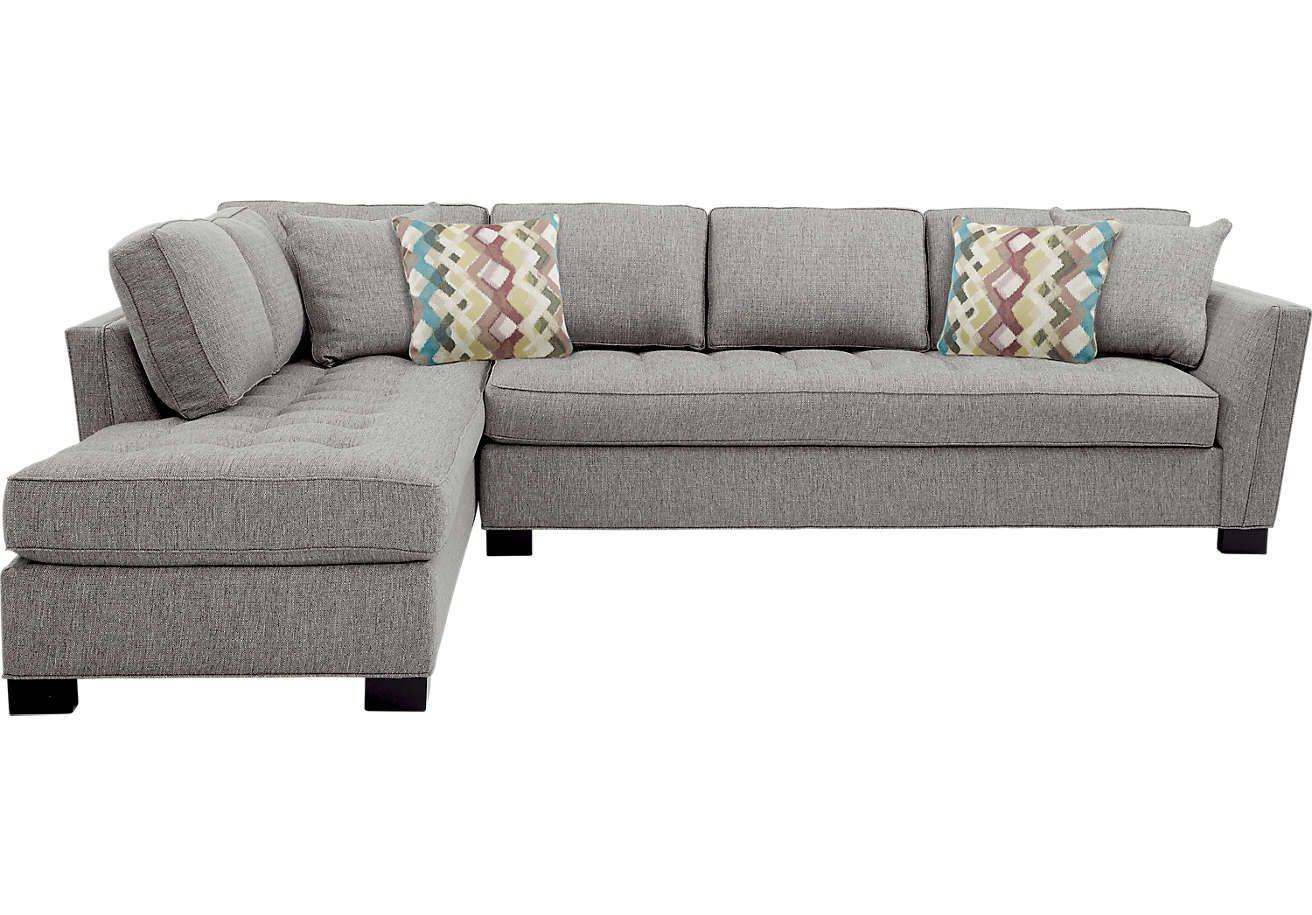 Best Cindy Crawford Home Calvin Heights Gray 2 Pc Xl Sectional 400 x 300