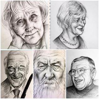Billedresultat for tegne ældre mennesker
