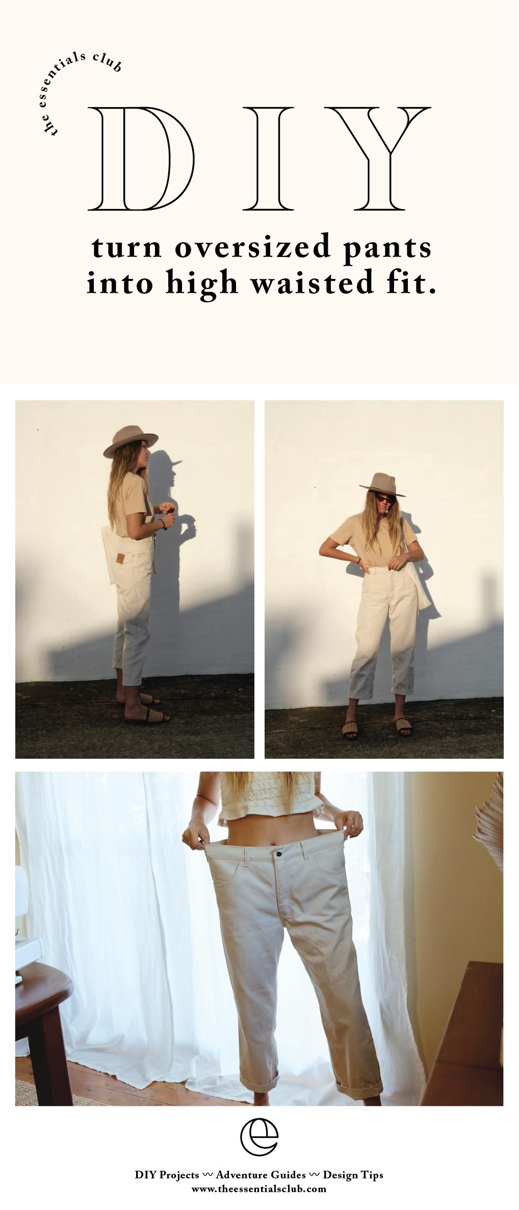Photo of DIY: Zwei Möglichkeiten, eine übergroße Hose zu verwandeln – UPCYCLING IDEEN,  #bukserFashion…