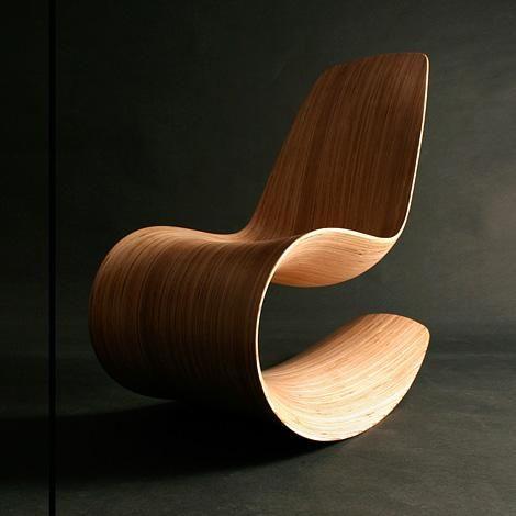 Fabulous Modern Chair Wooden Curved Flow Design Idea Chair Design Inzonedesignstudio Interior Chair Design Inzonedesignstudiocom