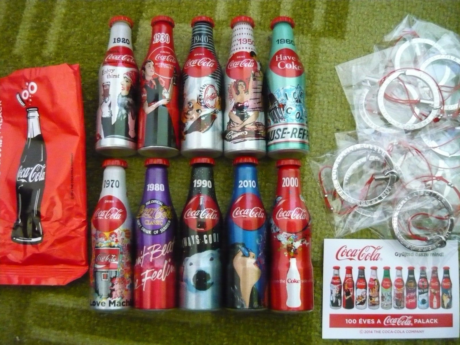 10 Pieces of Small Coca Cola Bottles Limited Edition | eBay