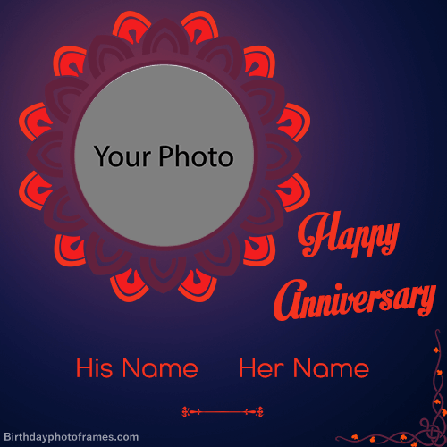 Create Anniversary Card With Photo Online Free Happy Anniversary Cards Love Anniversary Wishes Happy Marriage Anniversary