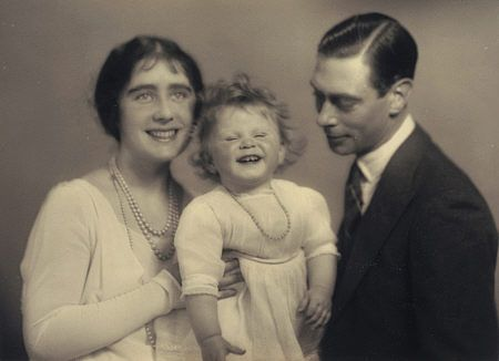 "Queen Elizabeth II and her parents, by Marcus Adams, 1928.     ""Whose a happy lil monarch? Whose a cuddly little anachronism?"""