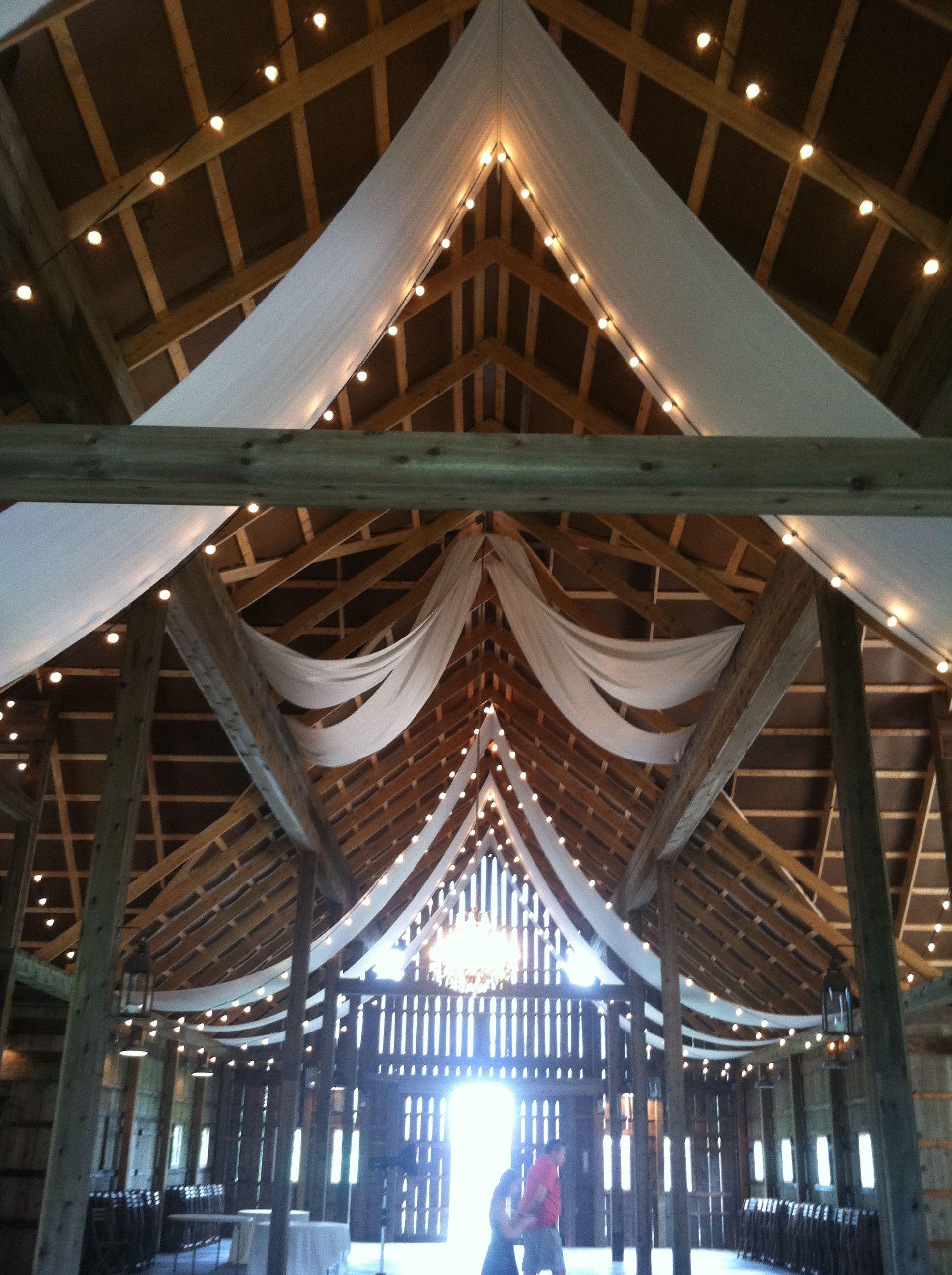 Indiana hendricks county lizton - The Barn At Kennedy Farm Wedding Barn Drapery Lizton Indiana Wedding Venue