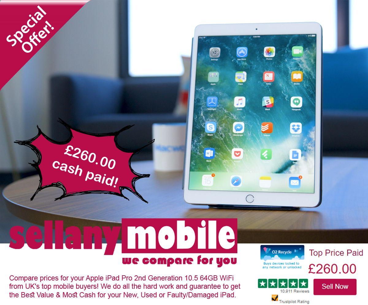 Sell My Used Apple iPad Pro 2nd Generation 10 5 64GB WiFi