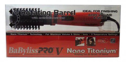 BaByliss Pro Nano Titanium 2 Ionic Rotating Hot Air Brush