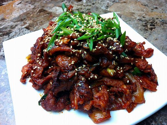 Korean spicy pork recipe korean pork and asian korean spicy pork korean food recipesyummy forumfinder Gallery
