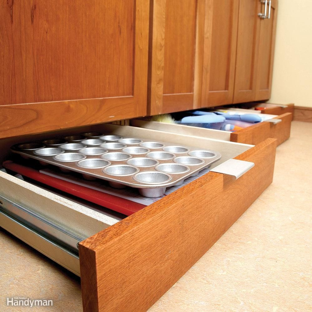 Roll out drawers organizing