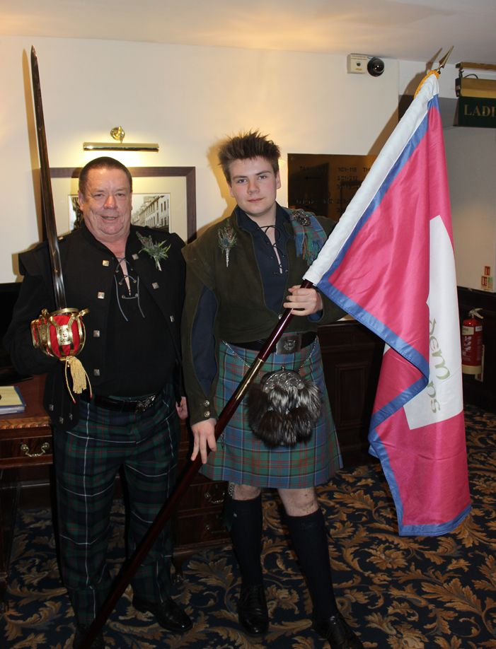 Jacobite Tours. Our friends raising the Jacobite standard at the Salutation Hotel,come join our Campaign, visit jacobitetours.co.uk