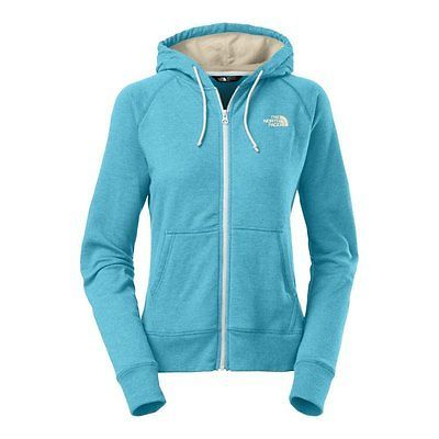 North Face Fave Half Dome Full Zip Hoodie Womens CW61-CMP Turqoise Blue Size M