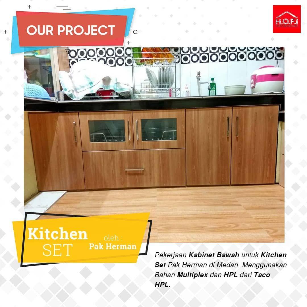 Our Project Pekerjaan Kabinet Bawah Untuk Kitchen Set Pak Herman Di