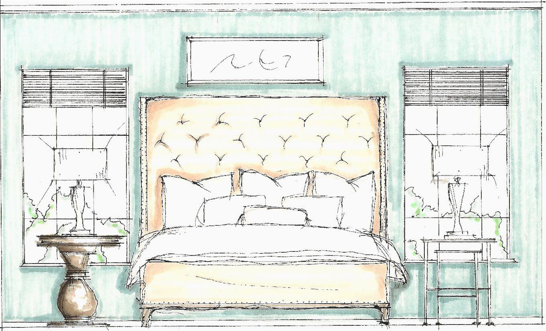 Bedroom Sketch Interior Design Layout Interior Design Bedroom Contemporary Bedroom Design
