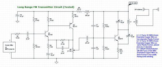 Long range powerful fm transmitter circuit diagram tested and long range powerful fm transmitter circuit diagram tested and working ccuart Images