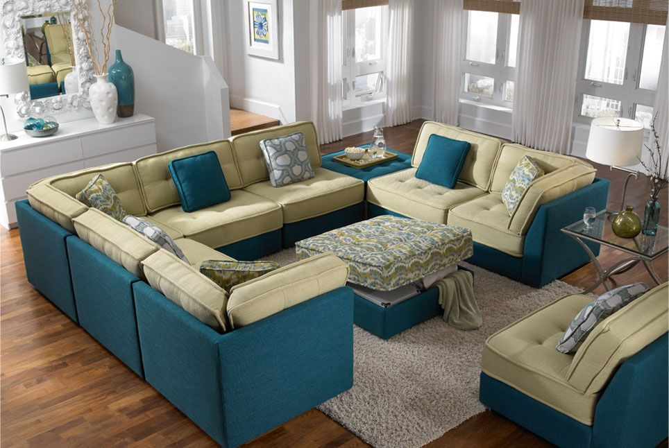 Love This New Sectional From Lazar, I Love That You Can Do Different Fabrics  On