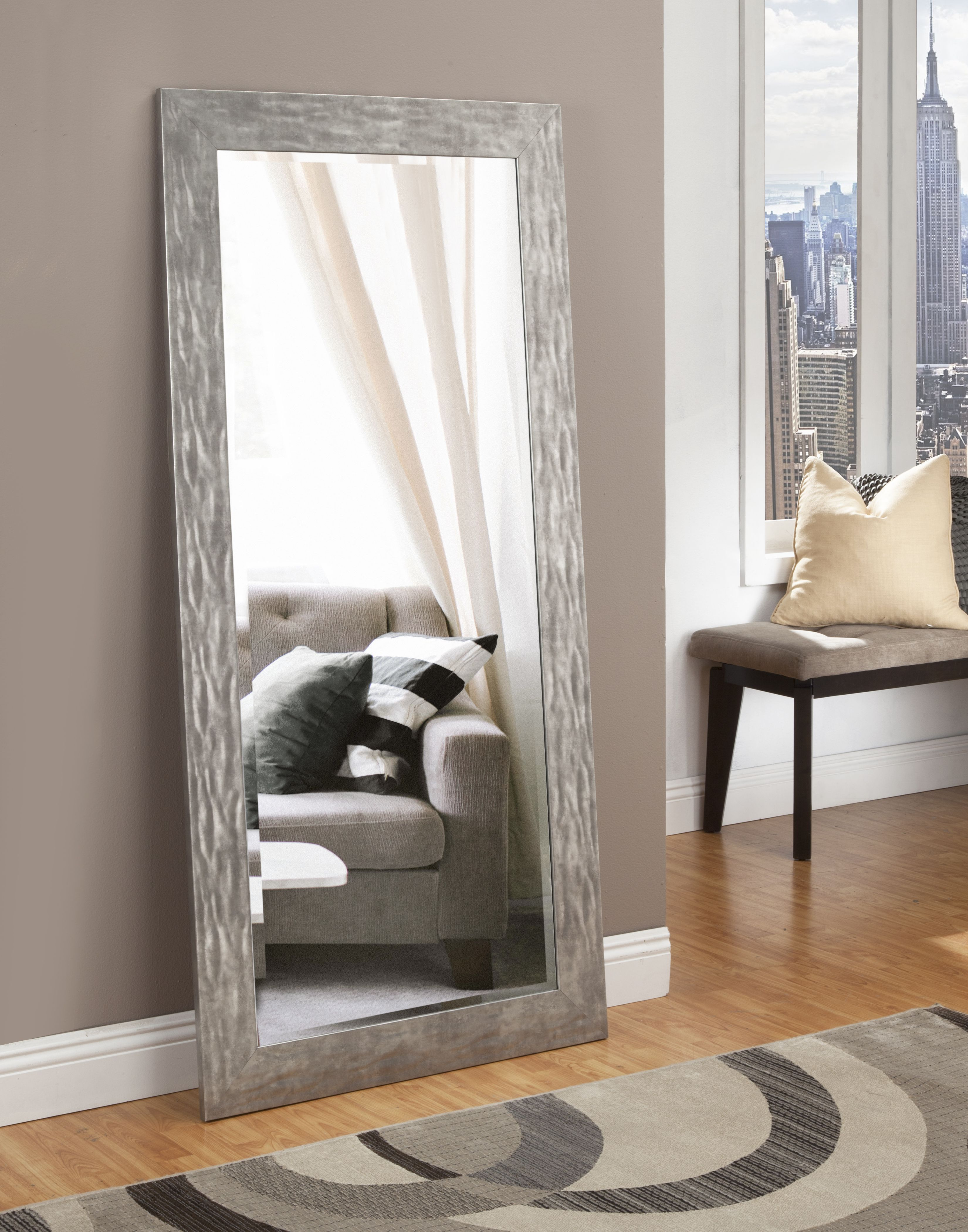 Full Length Leaner Mirror Antique Gold 65 X 31 By Martin Svensson Home Walmart Com Living Room Mirrors Floor Mirror Living Room Stands