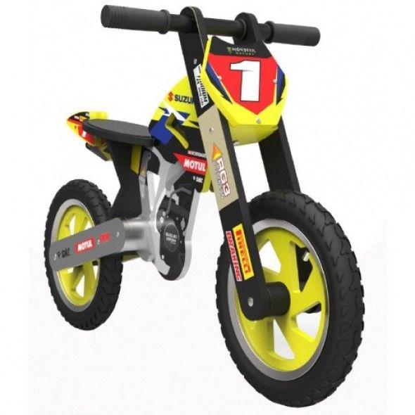 Kiddimoto Scrambler Balance Bike Suzuki Rmz Matt Moss Toys