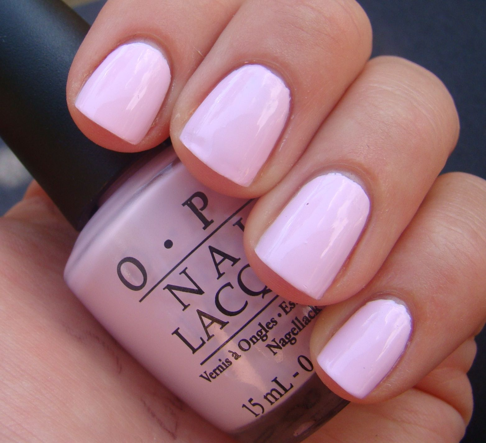 Mod about you OPI, you can never go wrong with a soft pink nail ...