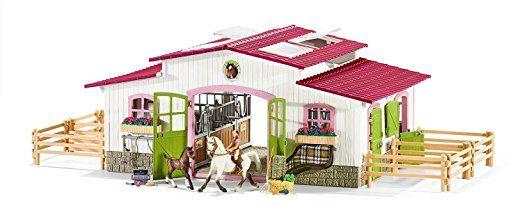 Schleich Horse Club 2er Set 42344 42334 Reiterhof Mit Reiterin Und Pferden Scheune Mit Tieren Und Zubehor Amazon De Sp Pferde Schleich Figuren Pferdestall