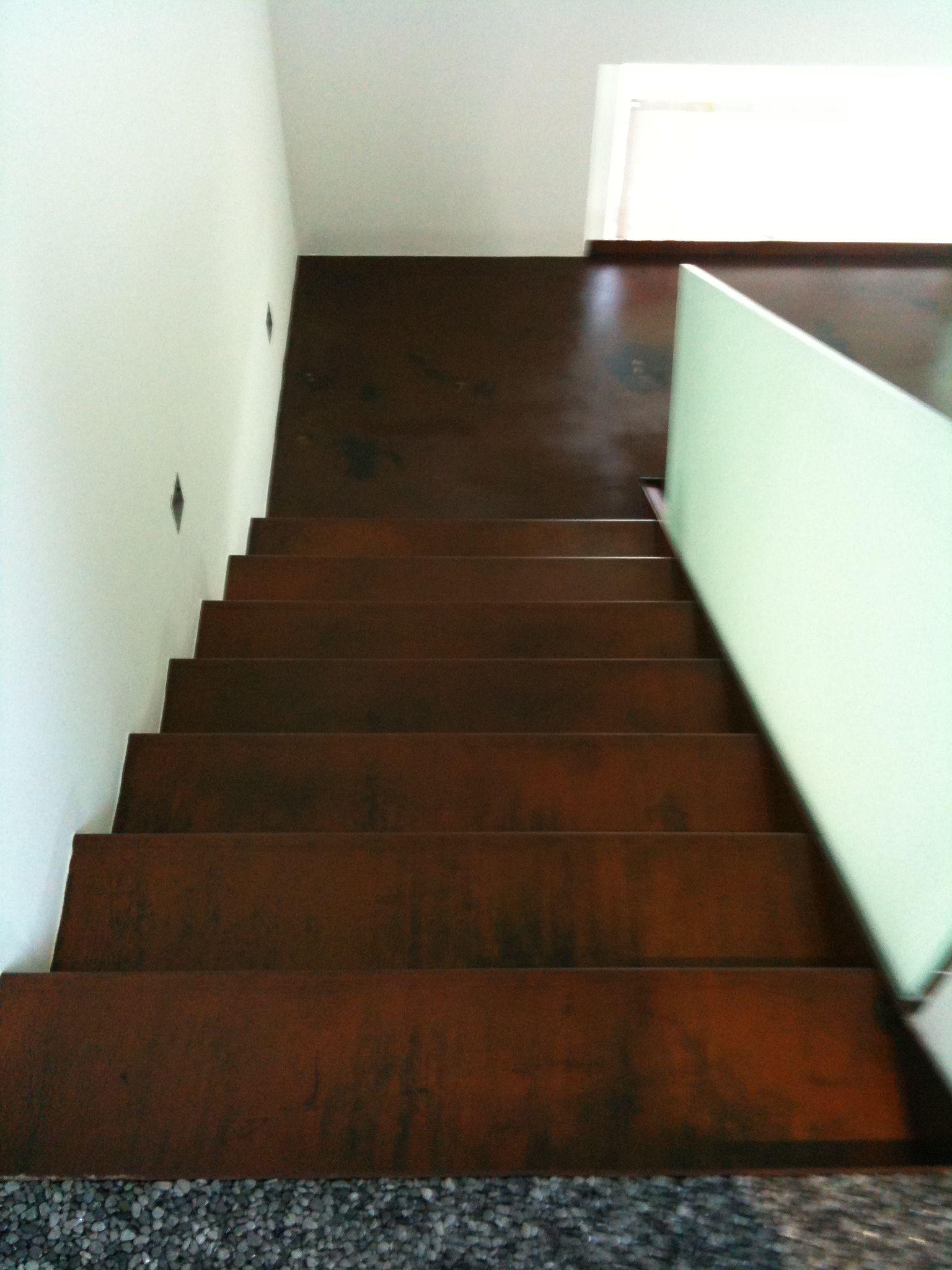 cor ten stahl faltwerktreppe preis auf anfrage stiegen. Black Bedroom Furniture Sets. Home Design Ideas