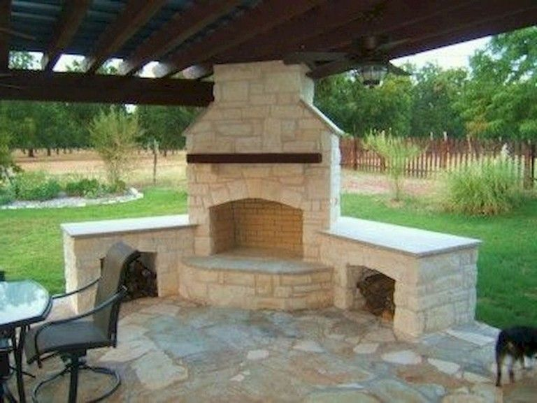 40 Exciting Backyard Fireplace Sets The Outdoor Scene Backyard Backyarddesign In 2020 Backyard Fireplace Outdoor Pergola Outdoor Fireplace Designs