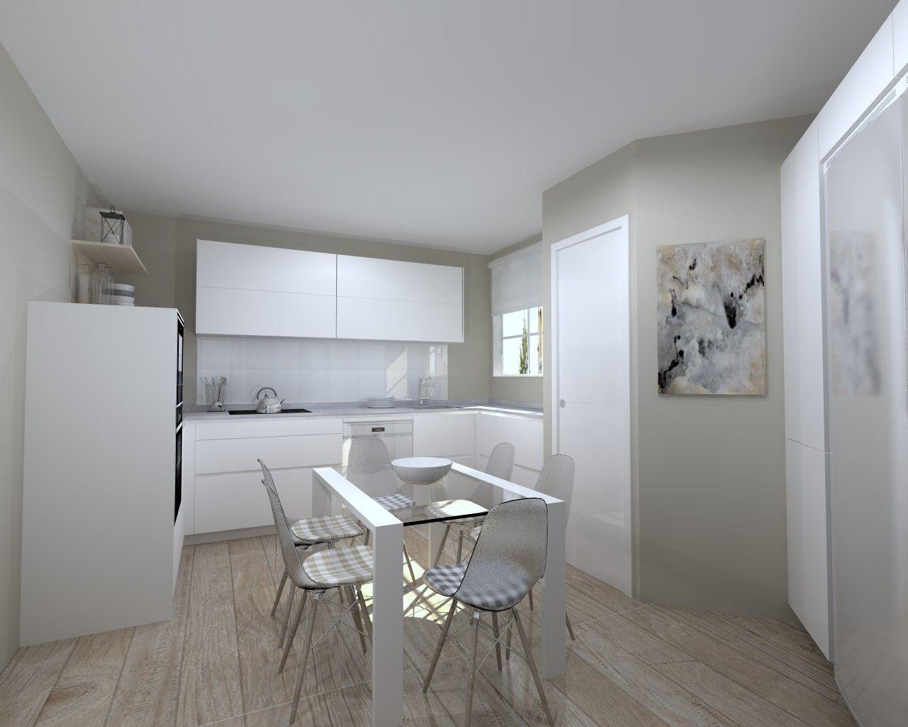 Cocina Santos Modelo Line E 13 Material Estratificado Blanco Innsbruk