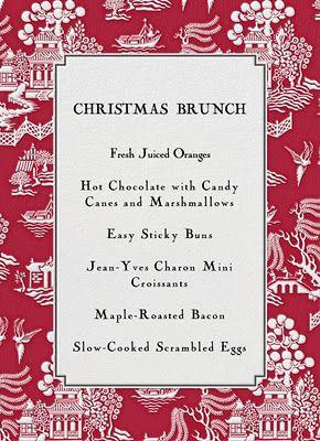 Christmas Brunch Menu.Love This Menu Card Christmas Brunch Ideas Chris