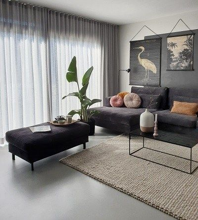 Photo of Loungebank Carmen – black, velours & beautiful   Huizedop
