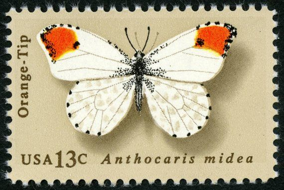 Five 5 Vintage Unused Postage Stamps