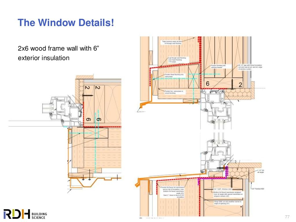 "77 The Window Details! 2x6 wood frame wall with 6"" exterior ..."