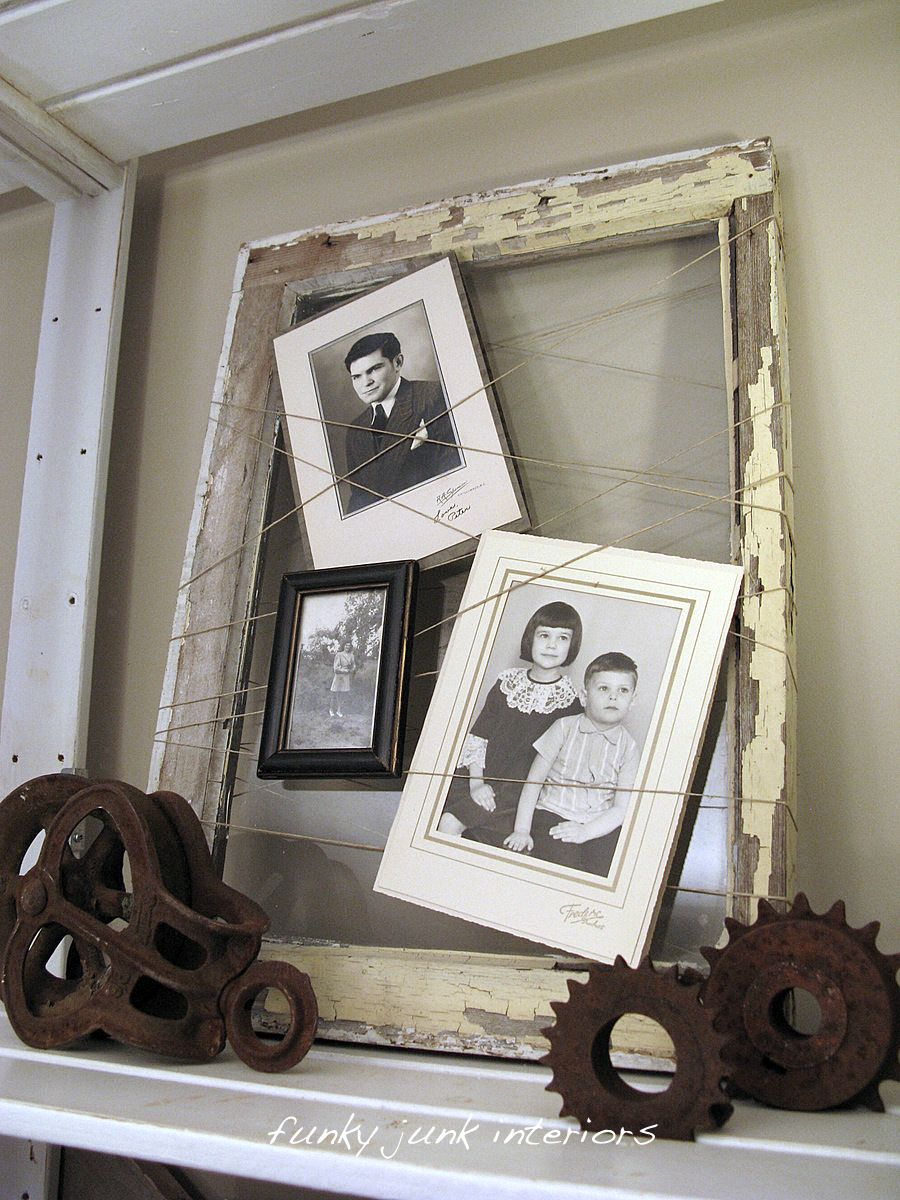 Ideas for old window frames  sat nite special  brings you  picture frames  string pictures