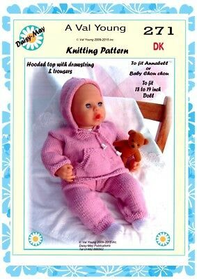 DOLLS KNITTING PATTERN by DAISY-MAY No.317 for Annabell ...