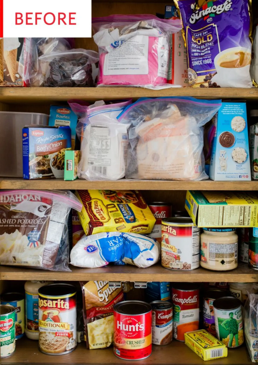 before and after how to organize a pantry pantry redo pantry organization food pantry on kitchen organization before and after id=42783