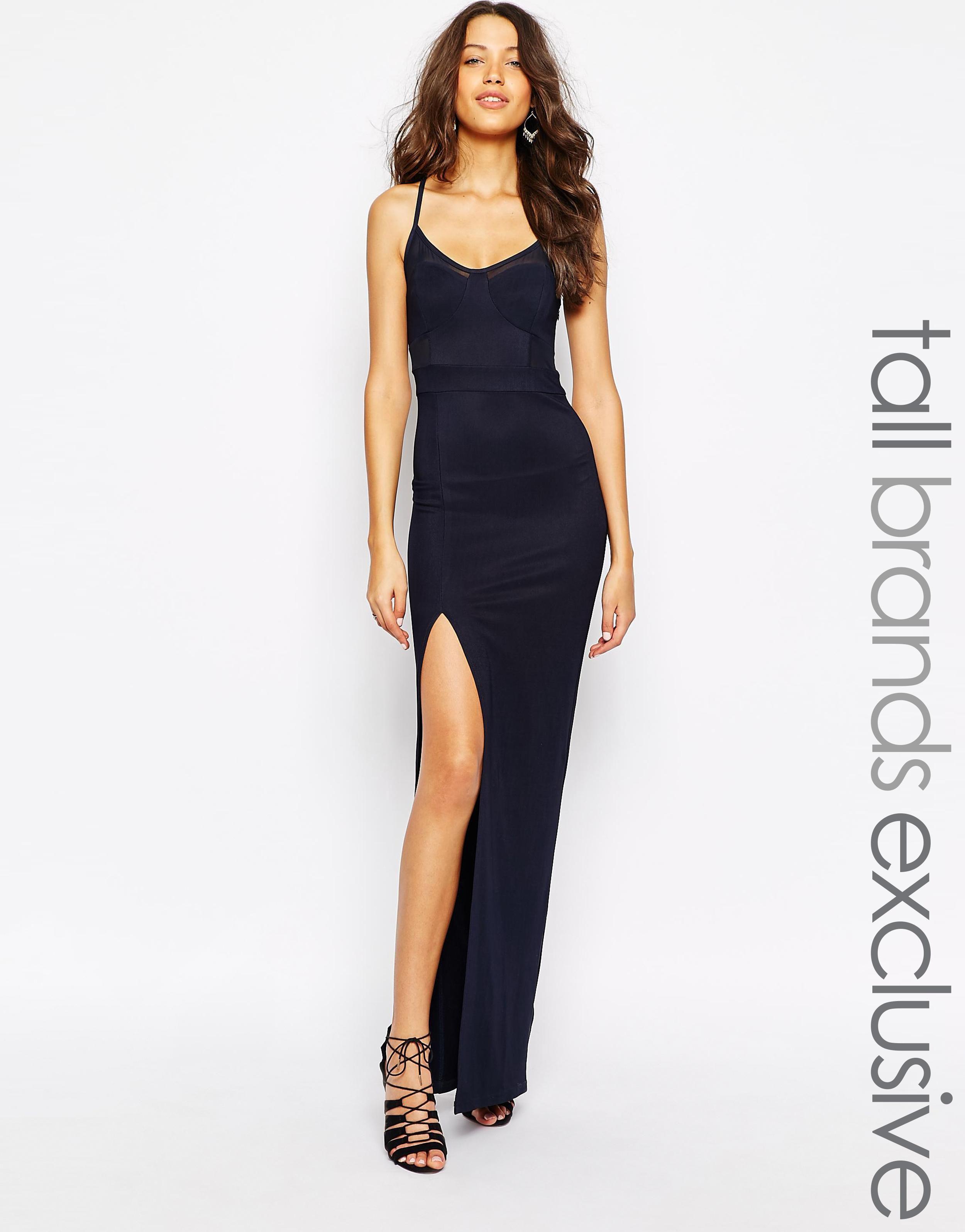 Us Asos Com True Decadence Tall Mesh Insert Maxi Dress With Thigh Split Candice Blackburn 5013526 Produ Split Maxi Dress Dresses Maxi Dress [ 3190 x 2500 Pixel ]