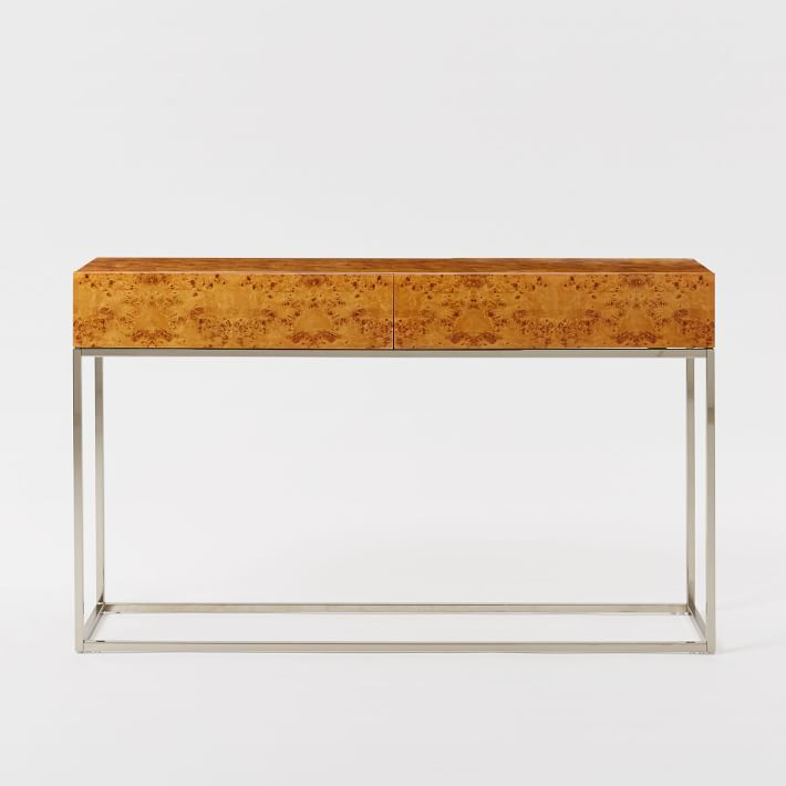 Burl Wood Console Table By West Elm Furniture Decor