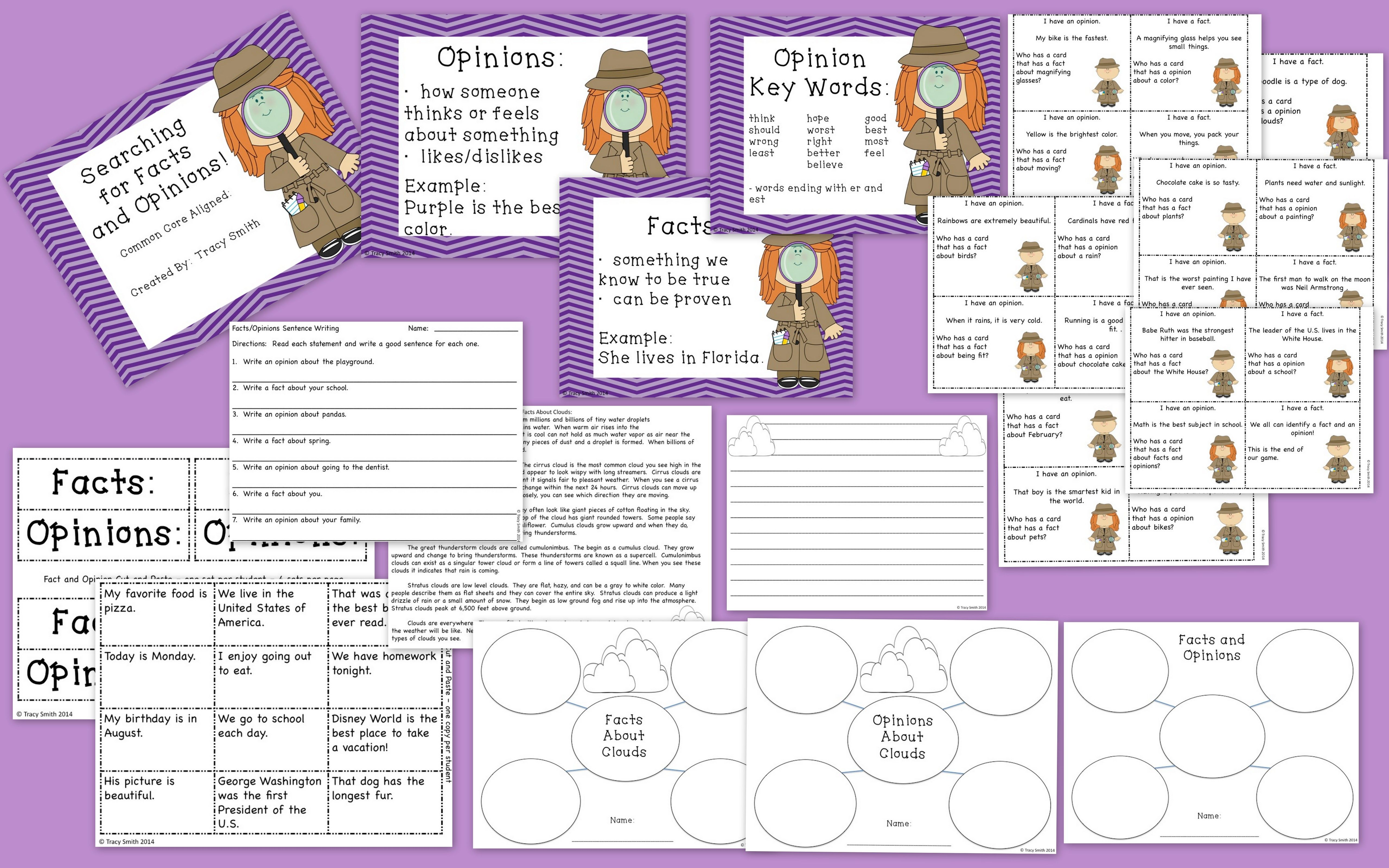 Searching For Facts And Opinions Grades 2 4
