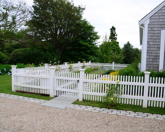 Front Garden Fencing Ideas Garden Picket Fence Design Ideas Pictures  Remodel And Decor 550x440