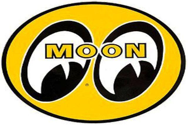 Mooneyes Racing Stickers Mooneyes Moon Logo