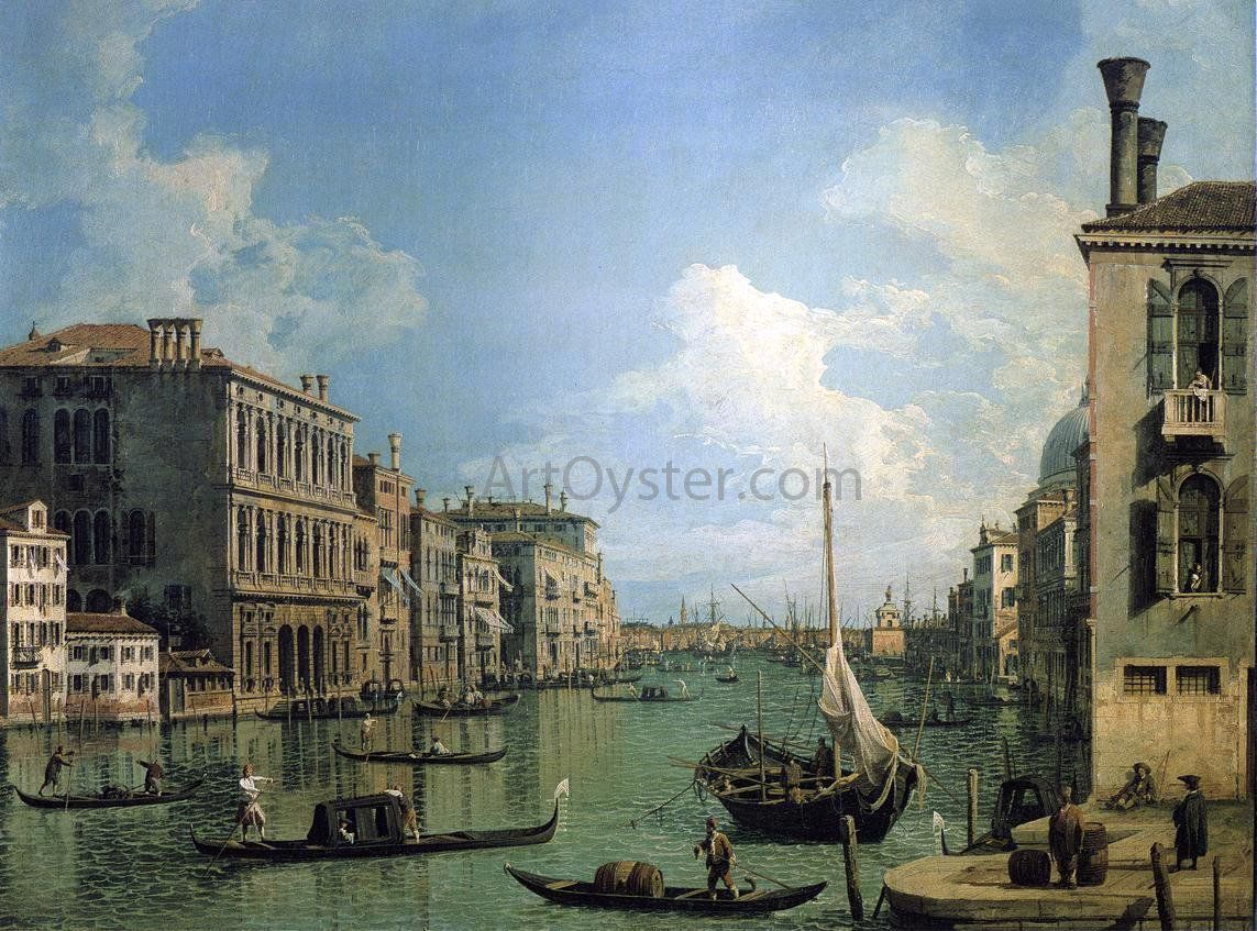 canap dresden At the Grand Canal Near the Campo San Vio, Looking Towards the Church of  Santa Maria della Salute by Canaletto - Canvas Art Print