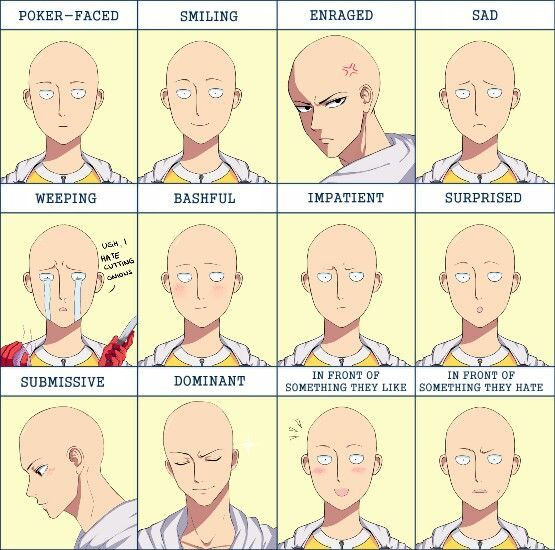Saitama Face Expression Meme One Punch Man Funny One Punch Man