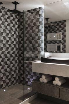 Lavabos e Banheiros : Banheiros modernos por Celia Beatriz Arquitetura