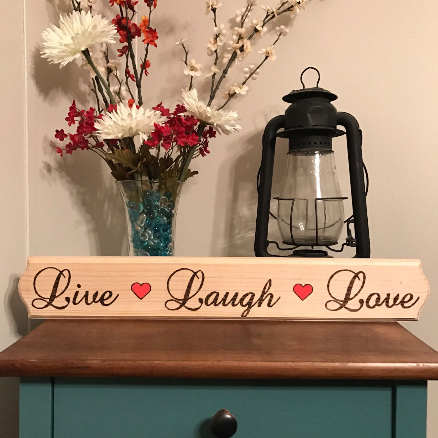 Wood Live Laugh Love Sign Mothers Day Gift Wedding Decor