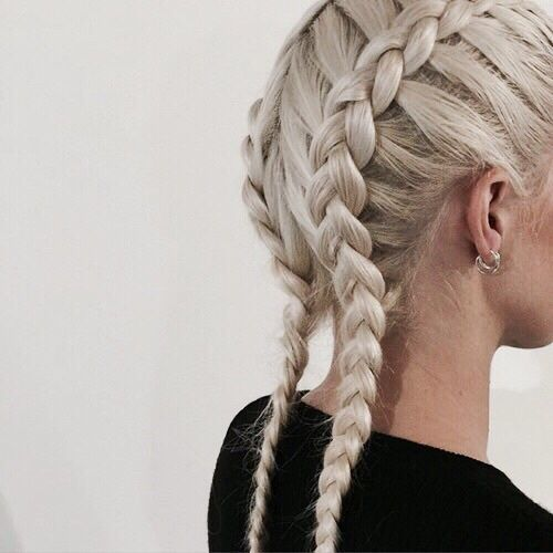 Two French Braids Tumblr Cerca Con Google Hair Styles Hair Inspiration Braided Hairstyles